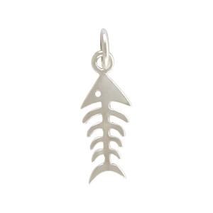Sterling Silver Fishbone Charm - Animal Charm