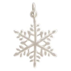 Sterling Silver Snowflake Charm Christmas Charms 24x16mm
