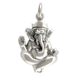 Sterling Silver Ganesh Charm or Link