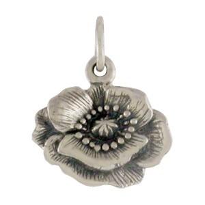 Sterling Silver Poppy Charm