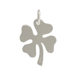 Sterling Silver Four Leaf Clover Charm 19x12mm