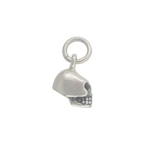 Sterling Silver Skull Charm - Mini 13x5mm