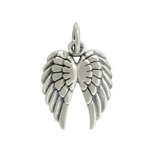 Sterling Silver Double Wing Charm 18x12mm