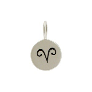 Sterling Silver Zodiac Charms - Aries 13x8mm