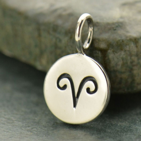 Sterling Silver Zodiac Charms - Aries