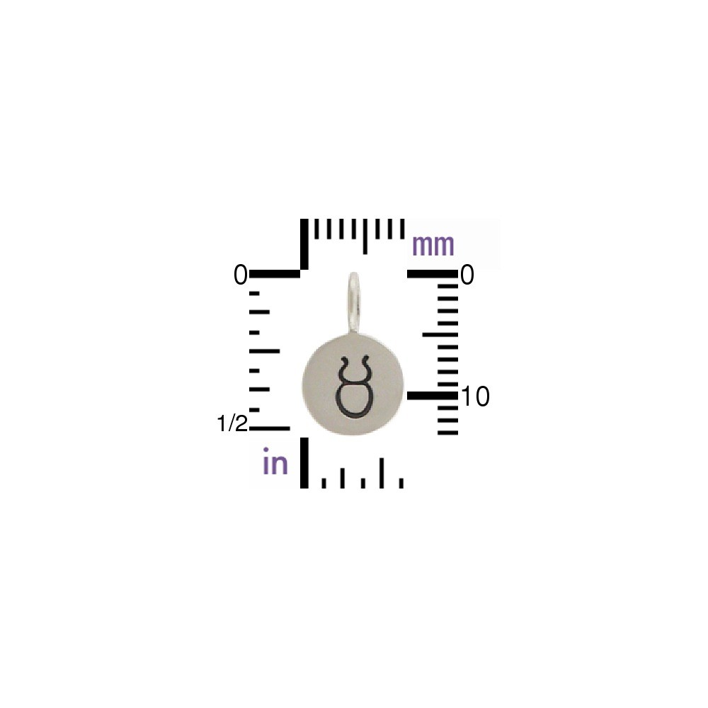 Sterling Silver Zodiac Charms - Taurus 13x8mm
