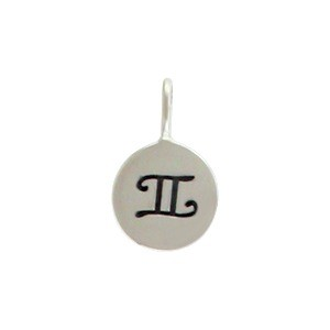 Sterling Silver Zodiac Charms - Gemini 13x8mm