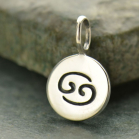 Sterling Silver Zodiac Charms - Cancer