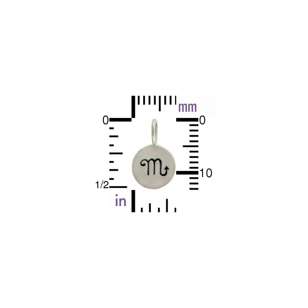 Sterling Silver Zodiac Charms - Scorpio 13x8mm
