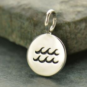 Sterling Silver Zodiac Charm - Aquarius