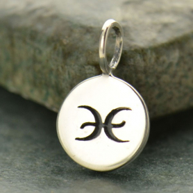 Sterling Silver Zodiac Charm - Pisces