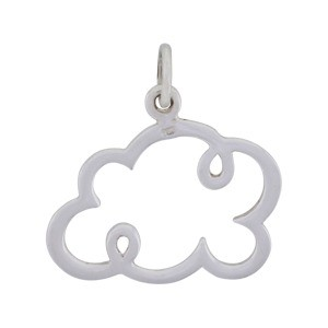 Sterling Silver Cloud Charm - Small 18x17mm