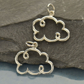 Sterling Silver Cloud Charm - Small