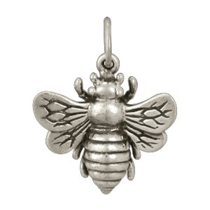 Sterling Silver Bee Pendant 20x18mm
