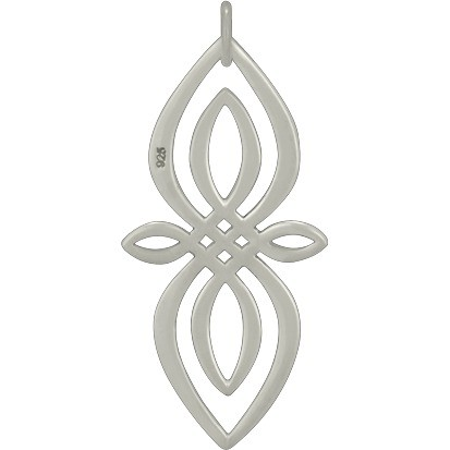 Sterling Silver Celtic Knot Charm - Infinity 35x16mm