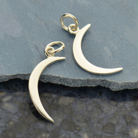 Sterling Silver Moon Charm 22x8mm