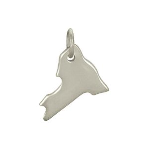 Sterling Silver State Charm - New York Charm 14x12mm
