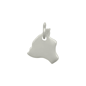Sterling Silver State Charm - Hawaii Charm 13x10mm
