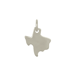 Sterling Silver State Charm - Texas Charm 14x10mm