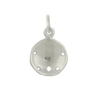 Sterling Silver Sand Dollar Charm - Beach Charm - Small