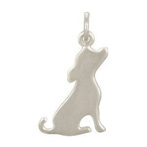 Sterling Silver Dog Charm -  Pet Charm 21x11mm