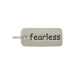 Sterling Silver Word Charm - Fearless