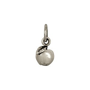 Sterling Silver Apple Charm - Food Charm