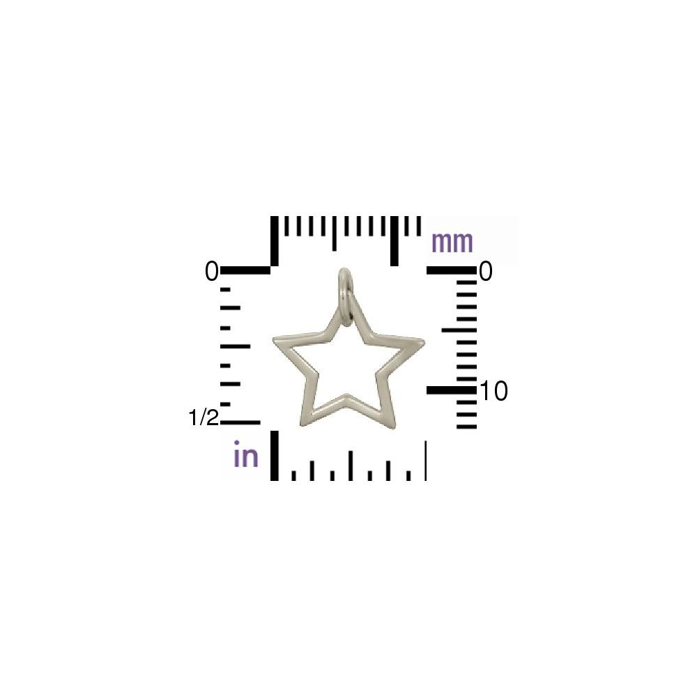Sterling Silver Star Charm - Openwork