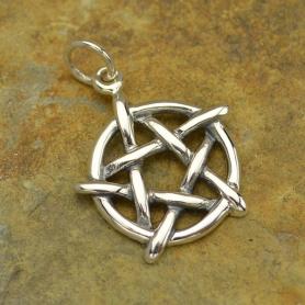 Sterling Silver Pentagram Charm
