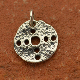 Sterling Silver Ancient Coin Charm - with Holes