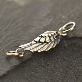 Sterling Silver Charm Links - Angel Wing
