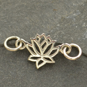Sterling Silver Charm Links - Lotus