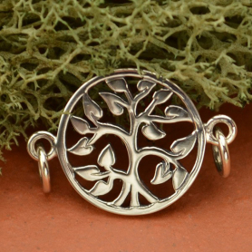 Sterling Silver Charm Links - Tree of Life