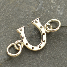 Sterling Silver Charm Links - Lucky Horseshoe