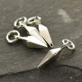 Sterling Silver Spike Charm - Small 15x3mm