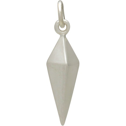 Sterling Silver Spike Charm - Large 22x3mm