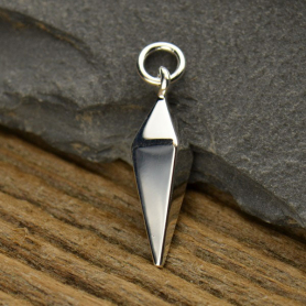 Sterling Silver Spike Charm - Large