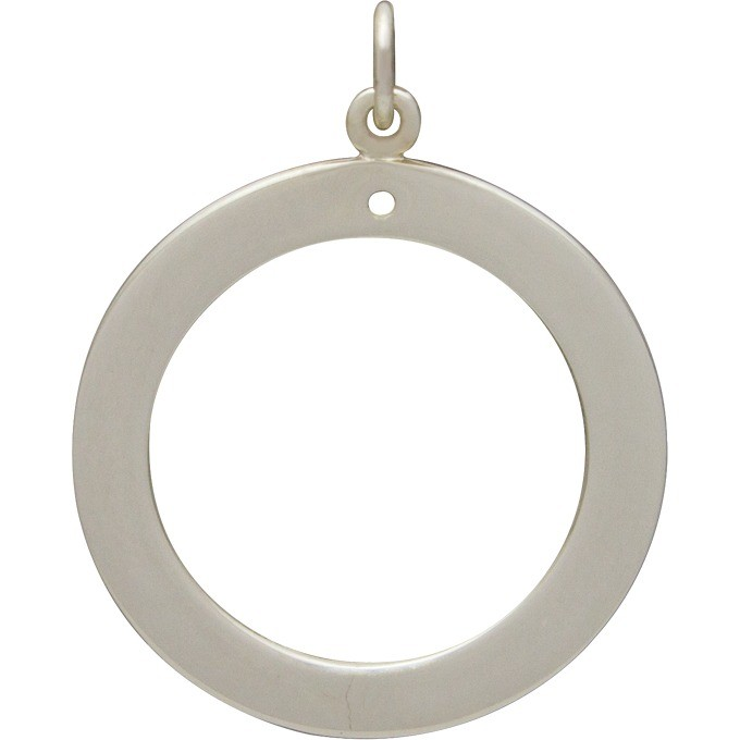 Sterling Silver Stamping Blank - Circle Frame DISCONTINUED