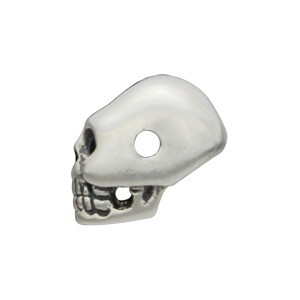Sterling Silver Beads - Mini Skull 6x4mm
