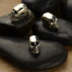Sterling Silver Beads - Mini Skull