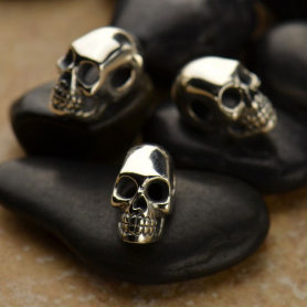 Sterling Silver Beads - Small Skull