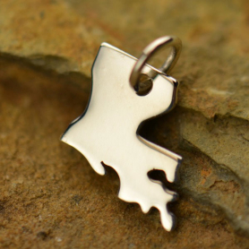 Sterling Silver State Charm - Louisana State DISCONTINUED
