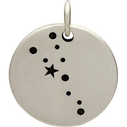 Sterling Silver Zodiac Charms - Constellation Taurus 18x15mm