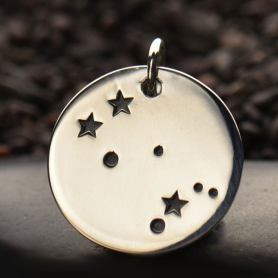 Sterling Silver Zodiac Charms - Constellation Gemini