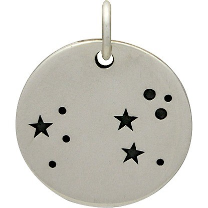 Sterling Silver Zodiac Charms - Constellation Leo 18x15mm