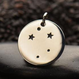 Sterling Silver Zodiac Charms - Constellation Libra 18x15mm
