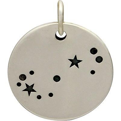 Sterling Silver Zodiac Charms -Constellation Scorpio 18x15mm