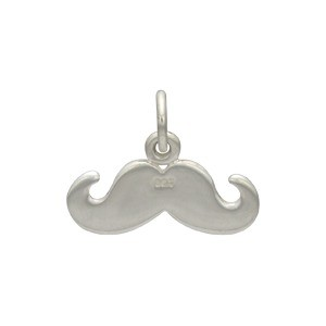 Sterling Silver Mustache Charm - Flat DISCONTINUED