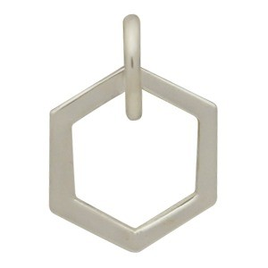 Sterling Silver Single Honeycomb Charm -12mm