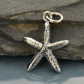 Sterling Silver Starfish Charm - Beach Charm